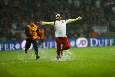 football gif pitch invader  damp klinsmann dive