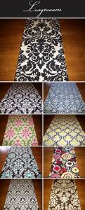 Damask And Graphic Print Wedding Table Runners Score