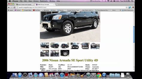 Cars For Sale Arthur Tx by Craigslist Tx Used Cars For Sale By Owner