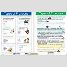 """Types Of Pronouns Visual Learning Guide  Laminated 4panel, 11"""" X 17""""  Gr 7"""