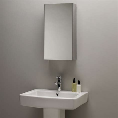 Mirrored Bathroom Cabinets by Lewis Single Mirrored Bathroom Cabinet Small