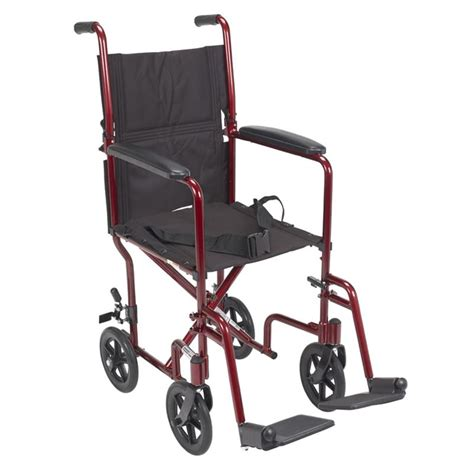 drive aluminum transport chair with swing away footrests