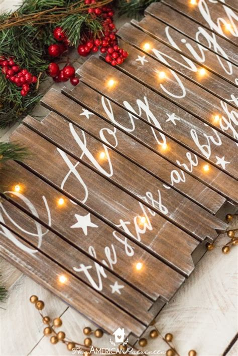 utterly perfect diy wood christmas decorations pretty