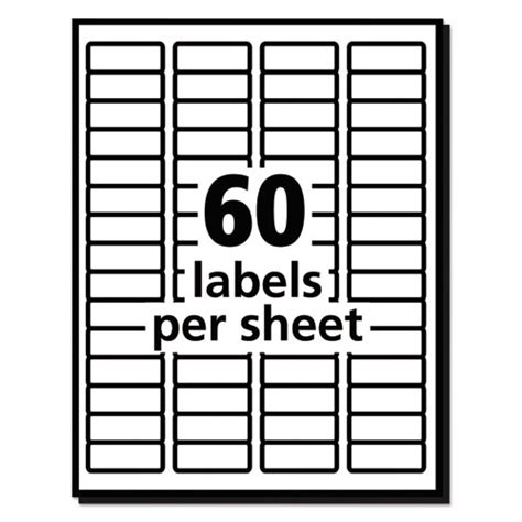 Avery Template 5195 Easy Peel Mailing Address Labels Laser 2 3 X 1 3 4