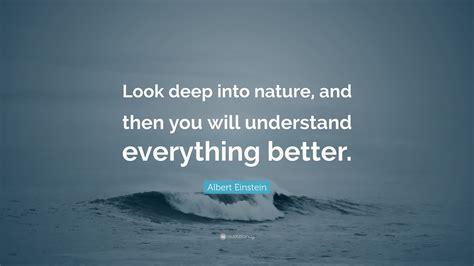 albert einstein quote  deep  nature