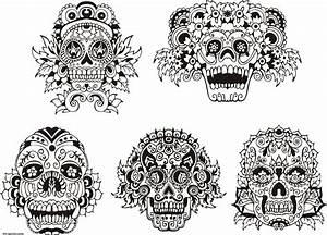 Tete De Mort Mexicaine Dessin : elegant coloriage tete de mort mexicaine ~ Melissatoandfro.com Idées de Décoration