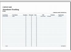 Excel Employee Attendance Tracker Template Excel Templates