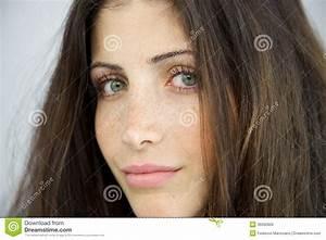 Closeup Of Woman Without Makeup Royalty Free Stock Image ...