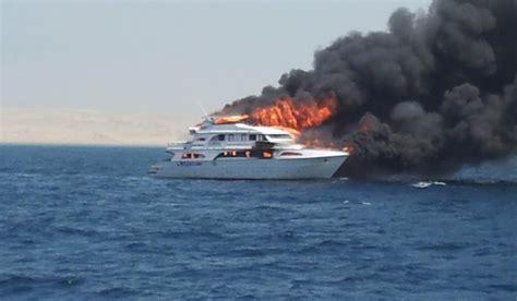 liveaboard catches fire  egyptian coast deeperbluecom