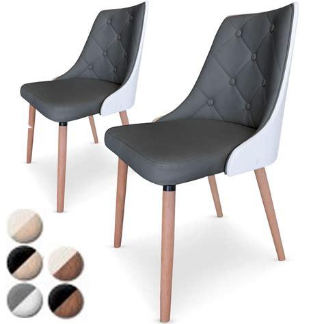 chaises en cuir chaise simili cuir gris maison design wiblia com