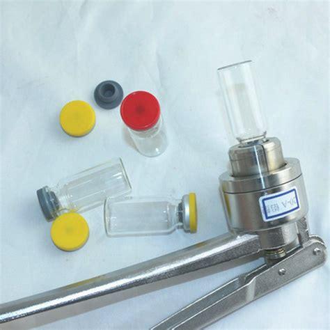 perfume bottles vials ampoule aluminum caps manual crimping machine hand crimper equipment