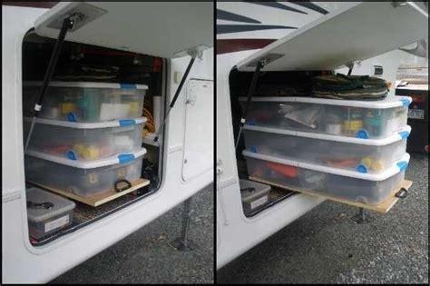 cheap  easy ways  organize  rvcamper