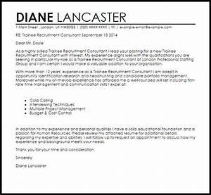 Recruitment Consultant Cover Letters Trainee Recruitment Consultant Cover Letter Sample