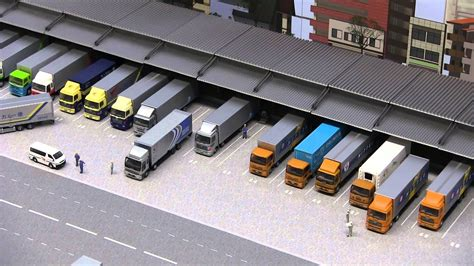 truck collection truck terminal diorama