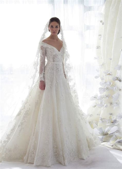 long sleeve lace wedding dress dressed up
