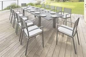 Table De Jardin Aluminium 12 Personnes : table et chaise de jardin 12 personnes phil barbato jardin ~ Edinachiropracticcenter.com Idées de Décoration