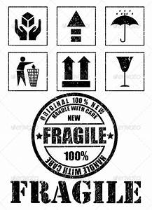 Safety Fragile Signs and Stamp Vector by ermolaevamariya ...