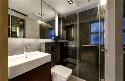 modern small warm apartment contemporary bathroom