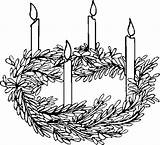 Candles Coloring Pages sketch template