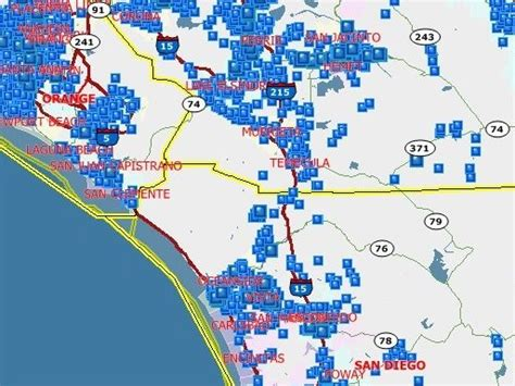 map of where offenders can offender email alert system launching in san diego