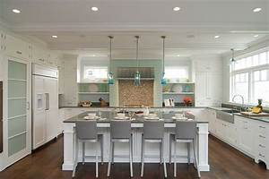 turquoise light filled kitchen interior design With kitchen colors with white cabinets with star of david candle holder