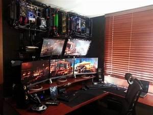 Gaming Zimmer Ideen : die besten 25 gaming setup ideen auf pinterest pc gaming setup computer setup und bestes ~ Markanthonyermac.com Haus und Dekorationen