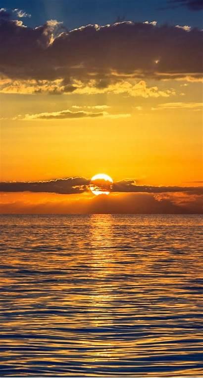 Senja Pemandangan Matahari Terbenam Iphone Iphone7plus Keren
