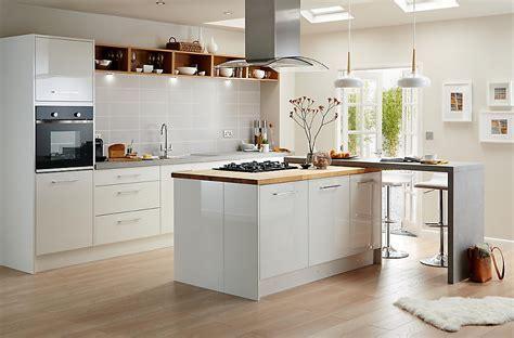 Cooke & Lewis Raffello High Gloss White Slab   DIY at B&Q