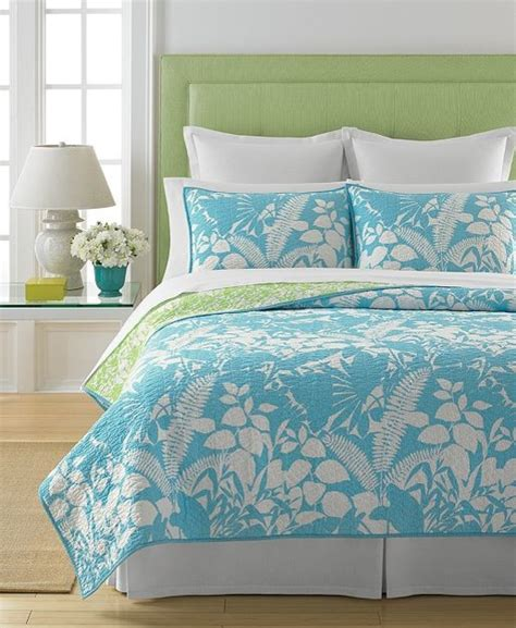 martha stewart quilts martha stewart collection paradise palm quilt contemporary quilts and quilt sets by macy s