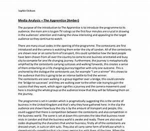 media analysis essay outline