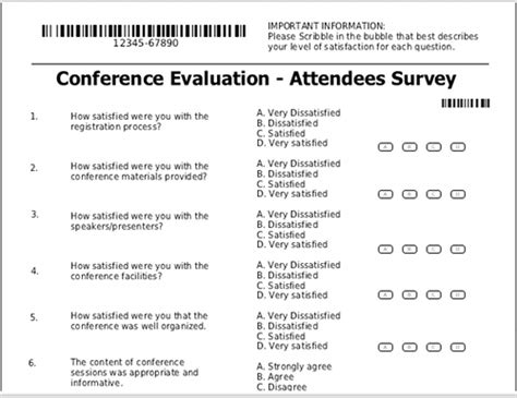 conference feedback form template