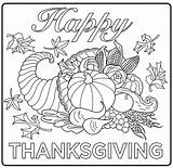 Thanksgiving Coloring Children Pages Simple sketch template