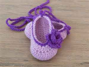 Crochet Baby Ballet Slipper Pattern