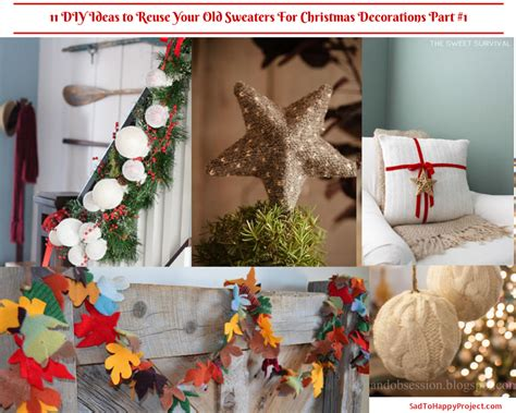 diy ideas  christmas  reusing  sweater sad