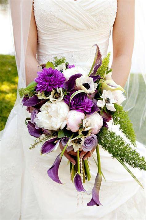 purple wedding purple  white bouquet  weddbook