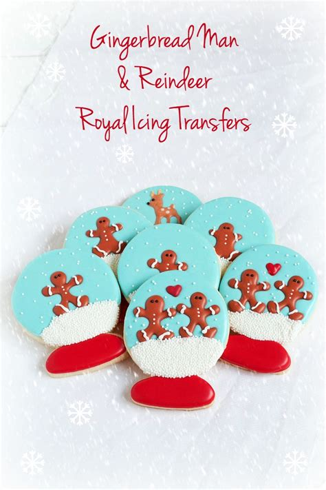 easy christmas royal icing transfers  bearfoot baker