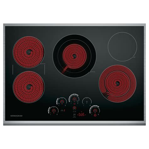 zeursjss ge monogram  built  electric cooktop  touch controls stainless airport