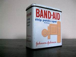 Vintage Band Aid Bandage Metal Tin
