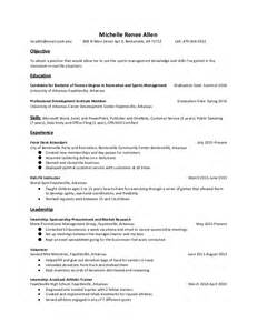 resume objective sports management sports management resume
