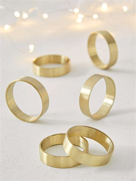 brass napkin ring set napkin rings brass nordic house