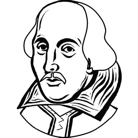 coloring pages portrait  william shakespeare