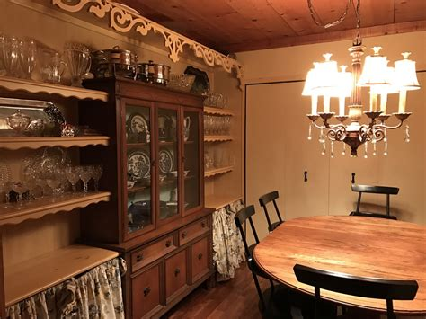 project built  china cabinet  dining room storage