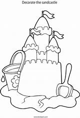 Coloring Castle Sandcastle Pages Colouring Drawing Sand Colour Designlooter Popular 08kb 961px Drawings sketch template