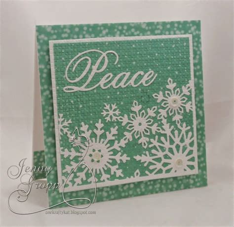 Snowflake Background Die by Snowflake Background Die Card Cards Impression
