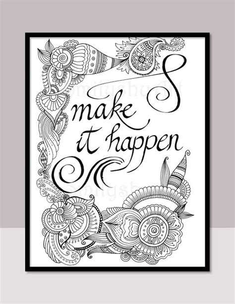 happen printable motivational quotes diy zentangle etsy