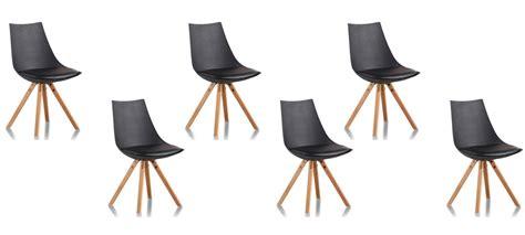 chaises promo lot de 6 chaises design garantie 2 ans satisfait ou
