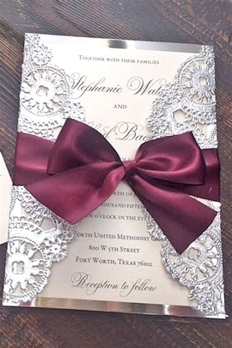24 Elegant Winter Wedding Invitations Winter wedding