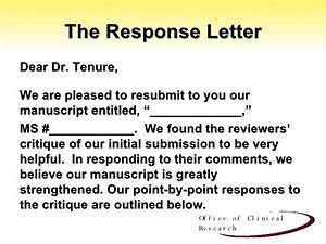 responding to reviewer39s comments With revise and resubmit cover letter