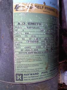 Hayward Pool Pump Label