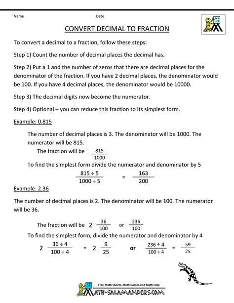 Convert Decimals Into Fractions Calculator  Fraction Decimal Percent Table Calculator Fractions